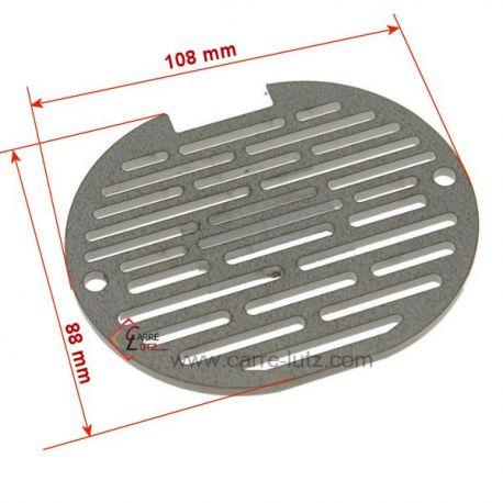 Grille inox 392300 de pot bruleur ou creuset de foyer pour poele a granulé Edilkamin Inpellet , reference 704406