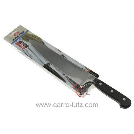 Couteau chef classic 25 cm Lacor 39025 couteau forgé manche riveté lame de 25 cm longueur totale 38 cm  , reference 991LC39025