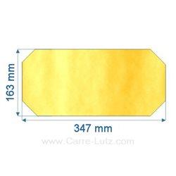 Vitre de poele en Vitrocéramique 352x164 coins coupés de convecteur Efel , reference 00102