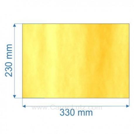 Vitre de poele en Vitrocéramique 330x230 mm Godin 3760 , reference 00171