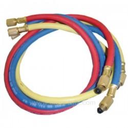 3 tuyaux de charge 90 cm rouge bleu et jaune , reference 110903