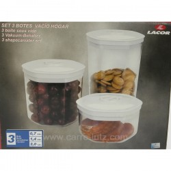 3 BOITES SOUS VIDE Accueil 127LC003, reference 127LC003