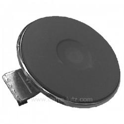 Plaque électrique diamètre 145 mm 1500W rebord 4 mm, reference 204161