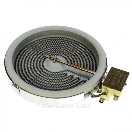 Corps de chauffe 1 circuit diamètre 140 mm 1200W 230VBosch Siemens Neff Gaggenau Viva Constructa ref. 00289561 00603422 0027...