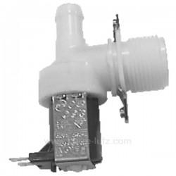 Electrovanne 1 voie 90° diamètre 15 mm AEG Bauknecht Bosch Siemens Miele Whirlpool , reference 207001