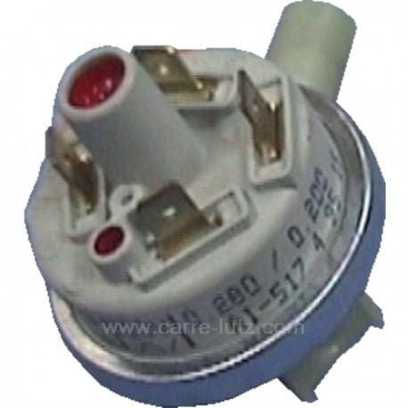 Pressostat haute pression 280/200 de lave vaisselle Brandt Vedette 31x4163 , reference 217135