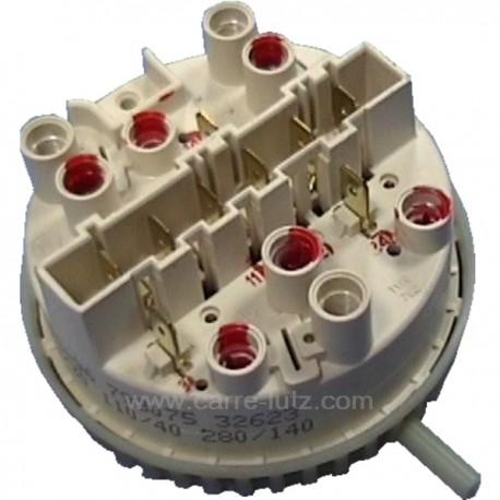 Pressostat 3 niveaux 70/30 110/40 280/140 de lave linge Brandt Vedette 55x3924 , reference 218157
