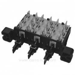 Clavier 3 touches à 6 cosses de lave linge Vedette Whirlpool Ariston Electrolux , reference 219042