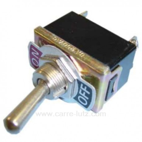 Interrupteur marche arret 10A 250V bipolaire, reference 220014