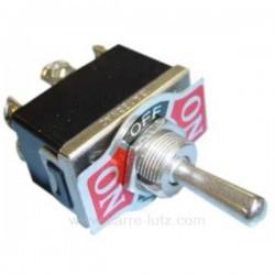 Interrupteur marche arrêt 3 positions 10A 250V bipolaire, reference 220015