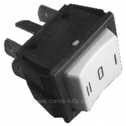 Interrupteur inverseur 10A 250V 6 contacts 22x25 mm, reference 220113