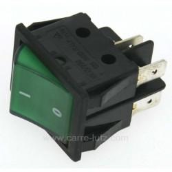Interrupteur bipolaire à voyant vert, reference 220202