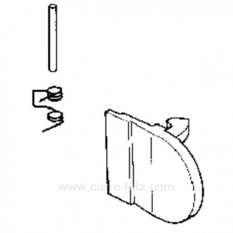 Poignée de hublot grise de lave linge Laden Ignis Radiola Bauknecht Whirlpool ref. 481949868757, reference 405114