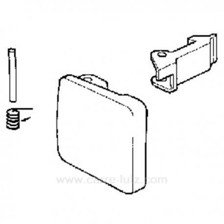 Poignée de hublot de lave linge Bosch Siemens 050099 , reference 405123