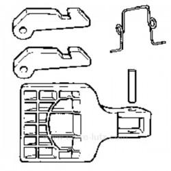 Poignée de hublot de lave linge Ariston Indesit C00034542 , reference 405127