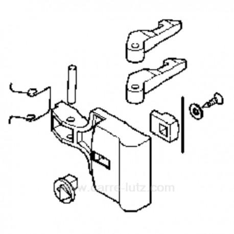 Poignée de hublot blanche de lave linge Indesit Ariston , reference 405131
