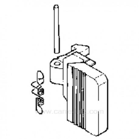 Poignée de hublot blanche de lave linge A.Martin Electrolux Sidex Gorenje 03010354 , reference 405134