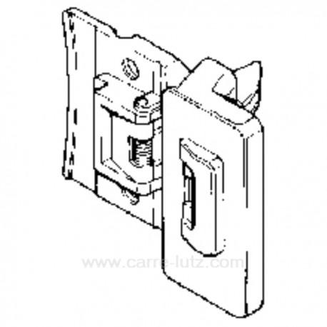 Poignée de hublot de lave linge Bosch Siemens 00040344 , reference 405141