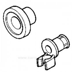Roulette de panier Diamètre 23 mm de lave vaisselle Bosch Siemens Neff Gaggenau Viva Constructa ref. 00066321 00424717 Fagor ...