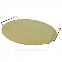 Pierre à pizza diamètre 330 mm avec support, reference 609683