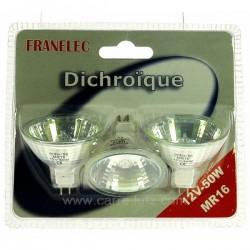 Ampoule halogène MR16 50W 12V par 3 Éclairage 620122, reference 620122