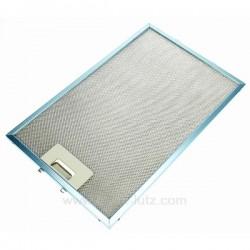 Filtre à graisse métal 242x380 mm de hotte aspirante Ariston Indesit Scholtes C00139286 , reference 701018