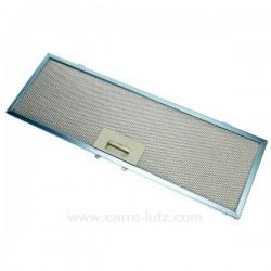Filtre à graisse métal 177x458 mm, C00098726 de hotte aspirante Ariston Indesit Scholtes , reference 701019