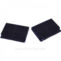 2 Filtres charbon actif EFF70 192x136x20 mm de hotte aspirante Ariston Scholtes Smeg Zanussi , reference 701085