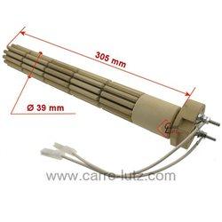 Résistante stéatite de chauffe eau 39 x 330 mm 1200W monophasée 2 bornes , reference 703656