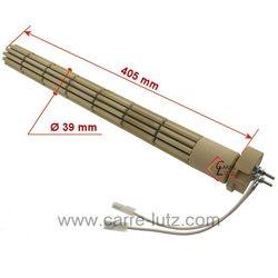 Résistante stéatite de chauffe eau 39 x 450 mm 2000W monophasée 2 bornes , reference 703658
