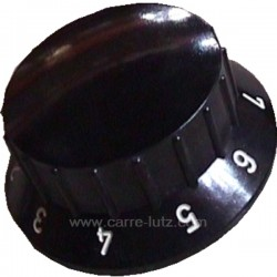 Manette noire 0.8 00001304851 pour convecteur Godin Cervin 3117 Art Deco 3119 Grand Ariegeois 3143 Argentic 330102 Jurassien ...