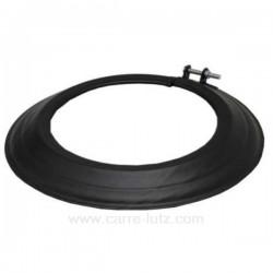 Rosace émaillé noir mat diamètre 153 mm, reference 70590670