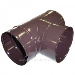 Té sans tampon émaillé marron diamètre 153 mm, reference 705942