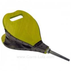 Soufflet bois forme poire en bois cérusé couleur vert anis, reference 7064074B