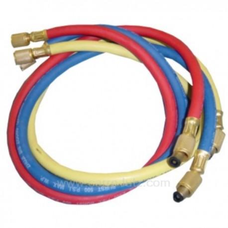3 tuyaux de charge 150 cm rouge bleu et jaune, reference 110904