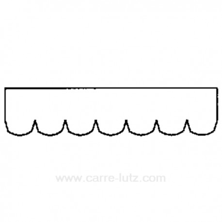 Courroie Plate 1885 H8 de sèche linge Ariston Indesit Hotpoint Creda Scholtes ref. C00036195 C00036522 Crown Far Philco, refe...