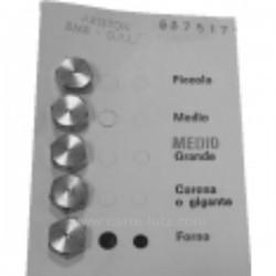 6075191996 - Jeu d'injecteurs 6MC gaz naturel pour gazinière Arthur Martin