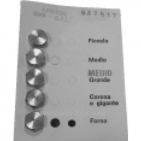 Jeu d'injecteurs 6MC gaz naturel pour gazinière Arthur Martin 6075191996 , reference 537528