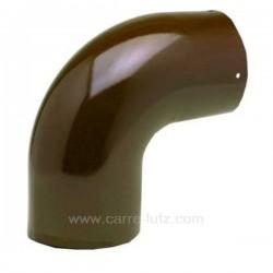 Coude lisse émaillé marron diamètre 153 mm, reference 705940