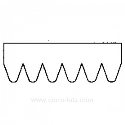 Courroie plate 1956 J3 de sèche linge Laden Whirlpool 481935818019 A.Martin Electrolux , reference 726066