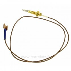 Thermocouple bruleur Longueur : 60 cm Ariston Indesit Scholtes C00052986Whirlpool Laden Ignis Radiola Bauknecht ref. 48200...