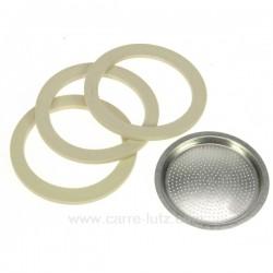 Filtre + 2 joints + soupape pour Moka 9 Tasses , reference 853022