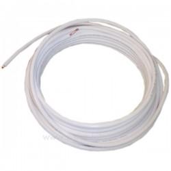 Tube cuivre avec isolant thermique 1/4 de pouce 0,8 mm , reference 901427