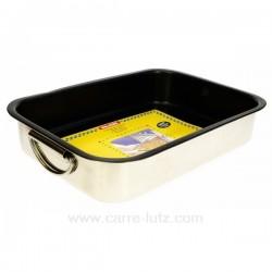 Plat four inox anti adherent 35x26x6.5 cm La cuisine 991IB062, reference 991IB062