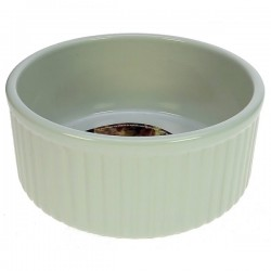 Moule à soufflé en céramique blanche diamétre intérieur 19 cm, reference 991IB270