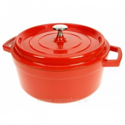 Cocotte en fonte d'aluminium ronde 4,2 litres diamètre 24 cm, reference 991LC25924