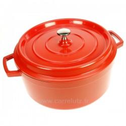 Cocotte en fonte d'aluminium ronde 6,7 litres diamètre 28 cm, reference 991LC25928