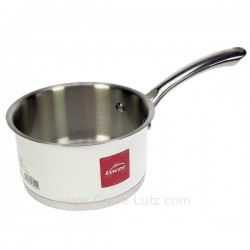 Casserole inox 18/10 finition blanc brillant  diamètre 14 cm White Lacor 43214, reference 991LC43214