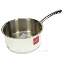 Casserole inox 18/10 finition blanc brillant diamètre 18 cm White Lacor 43218, reference 991LC43218