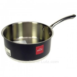Casserole inox 18/10 finition noir brillant diamètre 20 cm Black Lacor 44220, reference 991LC44220